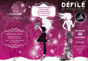 FLYER DEFILE DE MODE DANSE SWEETDANCE RECTO