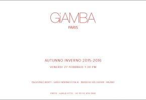 G.VALLI INVITATION AUTOMNE HIVER 2015 2016 GIAMBA BAT