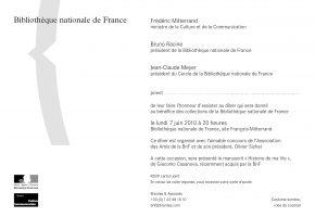 INVITATION 7 JANVIER BNF