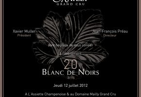 Invitation 20 ans Blanc de Noirs Mailly VERSO